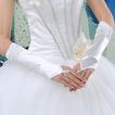 Rękawice ślubne Ruched Romantyczny Jesienią Beach Taffeta