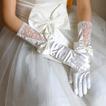 Ślubne Rękawiczki Pokój Jesień Glamour Koronka Tkanina Bow Tie