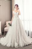 Krótki rękaw Średni Długi Frezowanie Latem Linia A Sukienka ślubne