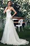 Bez ramiączek Harmonijkowe gorset Panienki Długi Sukienka ślubne
