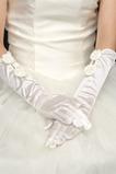 Rękawice ślubne na świeżym powietrzu Taffeta Eternal Bow Tie