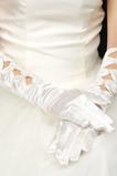 Ciepłe Satyna Full Finger Autumn Odpowiednie Białe Rękawiczki Ślubne