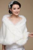 Ślubna suknia bez rękawów Fur Sexy Zimowa Pokój
