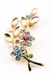 Inkrustowane diamenty gorąca sprzedaż dodatki damskie kryształowe listwy liściowe