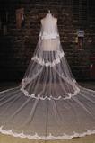 Ślubna zasłona Multi Layered Ceremonial Cold Lace Long Tissue Lace