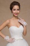 Rękawice ślubne Krótkie spodenki Perler White Thin Decoration