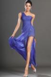 Elegancki Bez rękawów Na jedno ramię Środek tyłu Sukienka na studniówkę