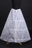 Ślub Petticoat Poliester tafta Proste Trzy obręcze Pełna sukienka