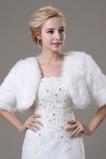 Szalik ślubny Glamour Krótki rękaw Bluzka Luźna Futro