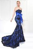 Syrena Bez rękawów Elegancki Akcentowane łuk Sukienka wieczorowe