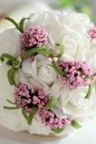 Bukiet kwiatu symulacji bukiet bride druhny ślubnej strony