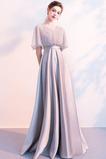 Panienki Naturalne talii Satyna V-dekolt Sukienka wieczorowe