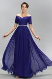 Elegancki Naturalny talia Długość kostki Sukienka wieczorowe