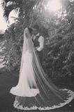 Ślubna zasłona na zewnątrz koronki tkaniny biała z grzebień rozmiar może być dostosowany