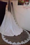 Ślubna zasłona tkaniny koronki długie z korą Ivory Wiosna