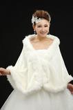Bez rękawów Glamour Górna i dolna dekoracja wełny Szalik ślubny