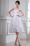 Średni Sznurowane Tiul Kwiaty Naturalne talii Sukienka ślubne