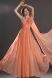 Bez rękawów Wiosna Brzoskwinia Rozeta akcentowane Sukienka wieczorowe