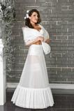 Ślub Petticoat Pełna Sukienka Vintage Flouncing Biały Terylene Dwa obręcze