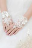 Ślubne Rękawiczki Krótkie Bez ramiączek Dekoracyjne Koronki Tkaniny Mitten