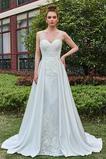 Długi Zimowe Bez rękawów Koronki Naturalne talii Sukienka ślubne