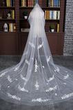 Bridal Veil Fabric Koronkowa Długa Z Długim Pociągiem Grzebieniowym
