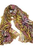 Szalik Lato Real silk Tassels printing Fioletowy Długie