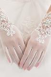 Rękawiczki ślubne Białe Krótkie Lato Pełne Pełne palce Odpowiednie