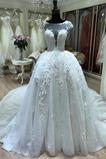 Krótki rękaw Formalny Naturalne talii Kościelna Sukienka ślubne