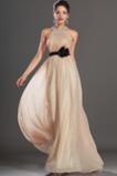 Stryczek Długość do podłogi Nanoszone Rozeta akcentowane Sukienka wieczorowe