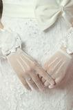 Ślubne Rękawiczki Kwiaty Autumn Black wielofunkcyjne Eleganckie