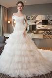 Tiul Panienki Warstwowych Wielowarstwowe Naturalne talii Sukienka ślubne