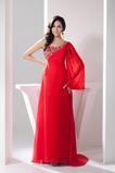 Asymetryczny Szyja Wiosna Naturalny talia Sukienka wieczorowe
