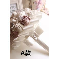 Nowa, prosta atmosferyczna diamentowa perła bukietowa bukiet wysokiej klasy dłoni