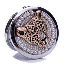Okrąg inkrustowane diamentowe urodziny metal ślubny składanie ozdoby