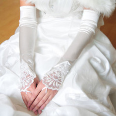 Rękawiczki ślubne Elegancka Taffeta Beach Zastosuj Zima