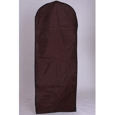 Suknia ślubna pokrywa pyłu brązowy wiszący suknię ślubną okładki druk