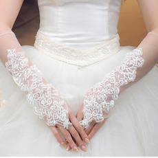 Ślubne Rękawiczki Kaplica Lato Poetyckie Appliques Tulle