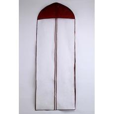 155 cm długa jednostronna przezroczysta krawędź pokryta kurzem suknia ślubna worek na kurz