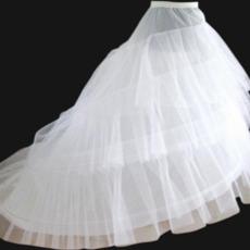 Ślubny Petticoat Elastyczny pas Szerokość Dwie obręcze Flouncing Suknia ślubna