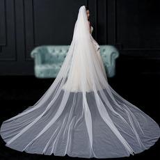 Welon spływowy panny młodej prosty welon fotografia ślubna długi welon akcesoria ślubne