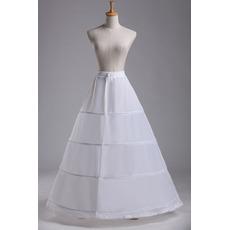 Ślub Petticoat Standard Cztery obręcze Regulowany Modny Poliester Tafeta