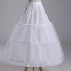 Ślubne Petticoat Trzy obręcze Strong Net Full Dress String Adjustable