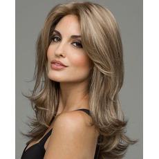Perruque Wgłębienie bangs Odpowiednie dla kobiet Long Curly Long Curly