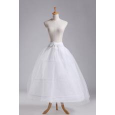 Ślubne Petticoat Trzy felgi Silna Net Pełna Sukienka Dwa paczki