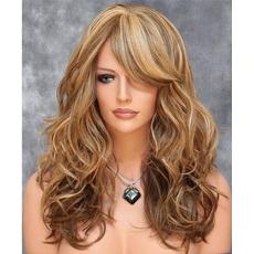 Perruque Odpowiednie dla kobiet Długie, kędzierzawe Dżinsy warkocz Długie kręcone włosy