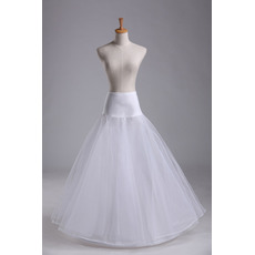 Ślubne Petticoat Spandex Standardowe Długie Pojedyncze obręcze Elastyczna talia