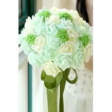 Bride ręcznie bukiet ślubu studio rekwizytów props