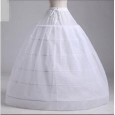 Ślubne Petticoat Dwa paczki Strong Net Suknia ślubna Long Six obręcze