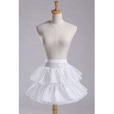 Ślub Petticoat Modny Średnica Elastyczna talia Krótka sukienka